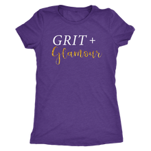 Load image into Gallery viewer, Grit and Glamour Tri Blend Scoop Neck - White Text - BrandLove101