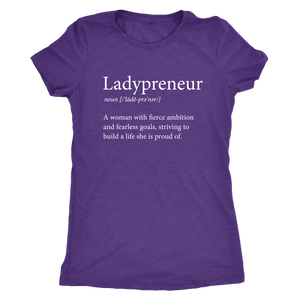 Ladypreneur Womens Crew Neck TriBlend Tee T Shirt - Other Colors - BrandLove101