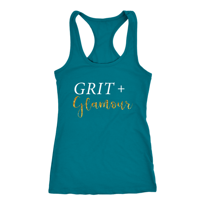 Grit and Glamour Racer Back Tank Top - 11 Colors - BrandLove101