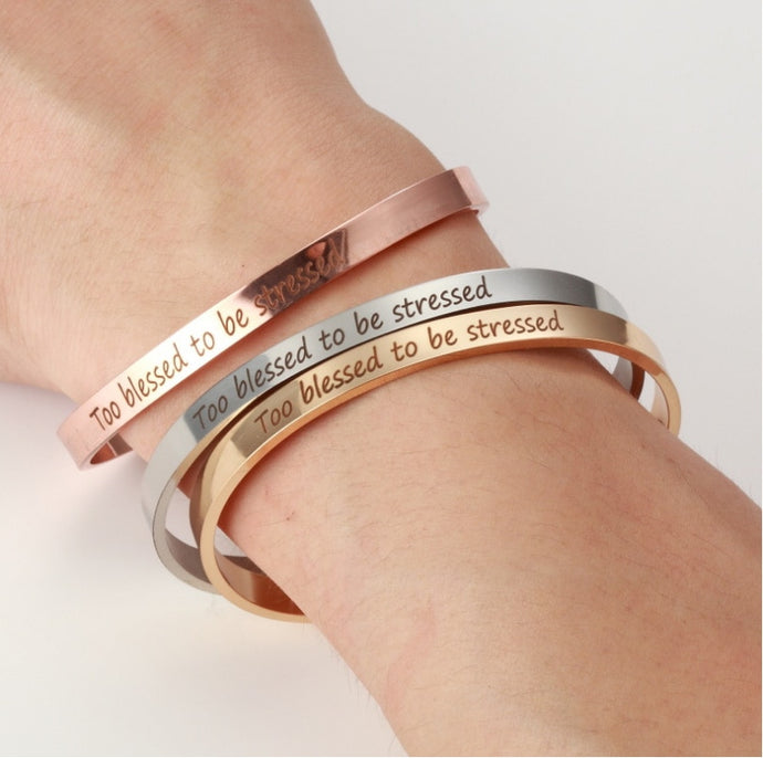 Stainless Steel Cuff Bangle Engrave