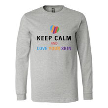 Load image into Gallery viewer, Keep Calm and Love Your Skin Long Sleeve Tee T Shirt Top - Other Colors - BrandLove101