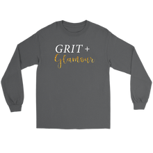 Load image into Gallery viewer, Grit and Glamour Long Sleeve - White Text - BrandLove101