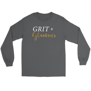 Grit and Glamour Long Sleeve - White Text - BrandLove101
