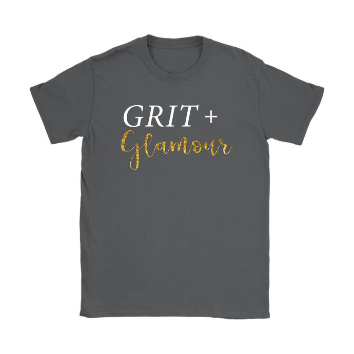 Grit and Glamour T Shirt - White Text - BrandLove101