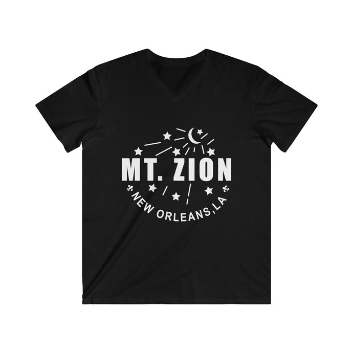 Mt Zion Nola Men's Fitted V-Neck Short Sleeve Tee - 2 Colors - BrandLove101