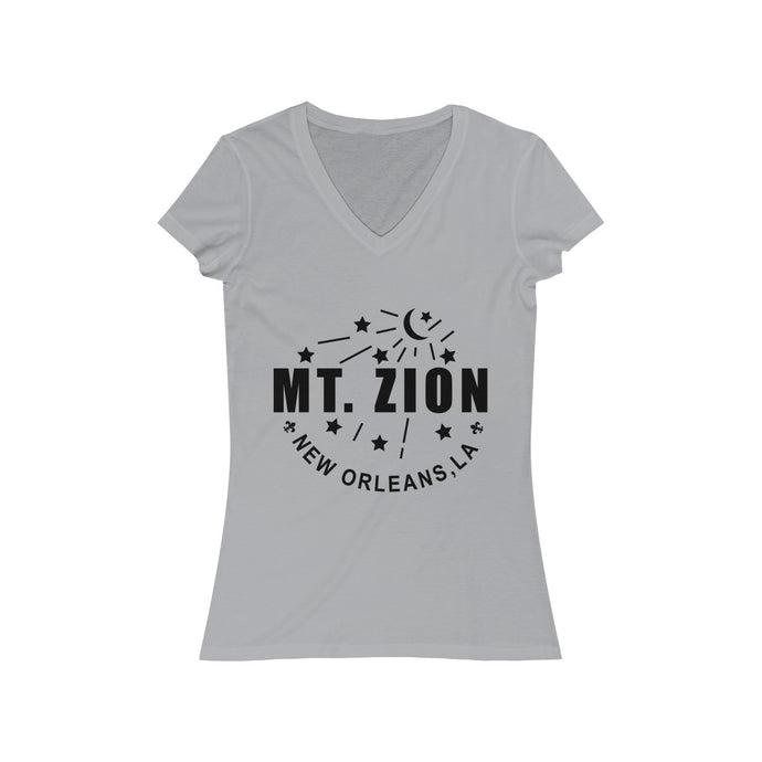 Mt Zion Nola Women's Jersey Short Sleeve V-Neck Tee- 2 Colors - BrandLove101