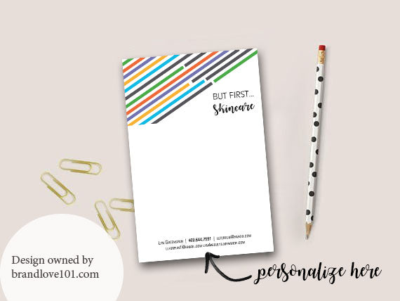 But First Skincare Customizable Notepads + Digital File - BrandLove101