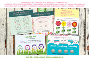 Easter Scratch Off Card(s) - For  Consultants - Spring Wreath - Prints - BrandLove101