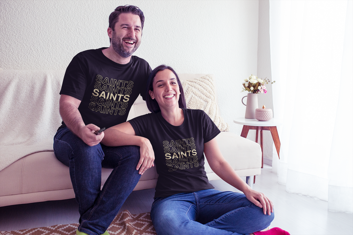 Saints on Repeat New Orleans Unisex Jersey Short Sleeve Tee - BrandLove101