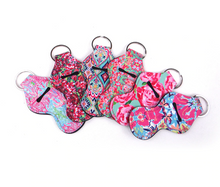 Load image into Gallery viewer, Keychain Chapstick Holder - Lily Pulitzer Inspired Designs - Pack of two - BrandLove101
