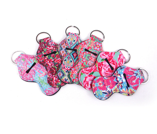 Keychain Chapstick Holder - Lily Pulitzer Inspired Designs - Pack of two - BrandLove101