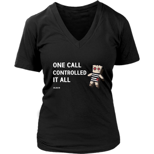 One Call Controlled It All New Orleans Saints District Womens V-Neck Top Tee T Shirt - 3  Colors - BrandLove101