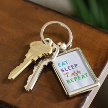 Load image into Gallery viewer, Eat Sleep Lash Repeat Key Chain Keychain - BrandLove101