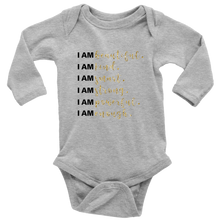 Load image into Gallery viewer, I Am All Things Beautiful Long Sleeve Baby Bodysuit - 3 Colors - BrandLove101