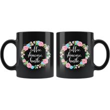 Load image into Gallery viewer, Coffee Skincare Hustle CEO Boss Babe Black Mug - 11 oz - BrandLove101