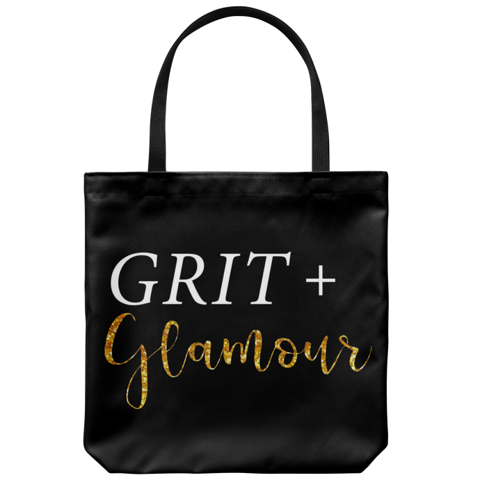 Grit and Glamour Black Tote - BrandLove101
