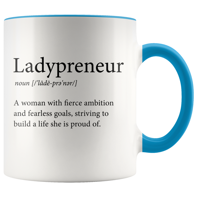 Ladypreneur Entrepreneur Coffee Tea Big Accent Mug - Other Colors - BrandLove101
