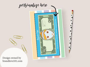 Skincare Cash $20 Notepad Gift Cards to Hand Out to PC'S - Blonde Hair - BrandLove101