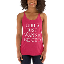 Load image into Gallery viewer, Girls Just Wanna Be CEO Next Level 6733 Ladies' Triblend Racerback Tank - BrandLove101