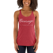 Load image into Gallery viewer, Courage is Contagious Women's Racerback Tank - 12 Colors - BrandLove101