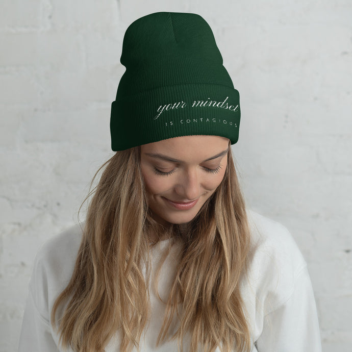 Your Mindset is Contagious Cuffed Beanie - 5 Colors