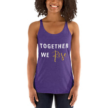 Load image into Gallery viewer, Together We Rise Women's Racerback Tank - BrandLove101