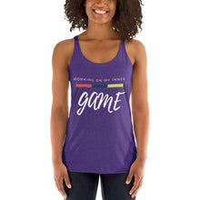 Load image into Gallery viewer, Working On My Inner Game Women's Racerback Tank - 12 Colors