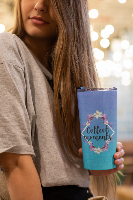 Collect Moments Be Present Motivational Tumbler 20oz - BrandLove101