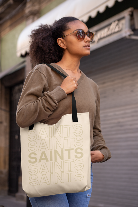 Saints on Repeat New Orleans Tote Bag - Vintage