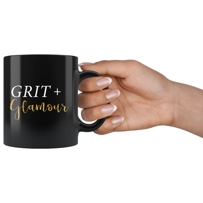 Grit and Glamour Black Mug - BrandLove101