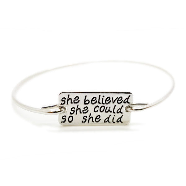 She Believed She Could So She Did Bangle - BrandLove101