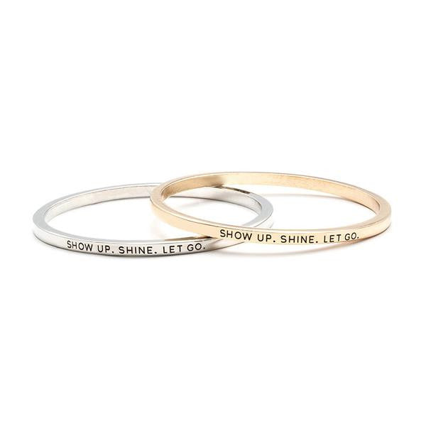 Show Up Shine Bangle - BrandLove101