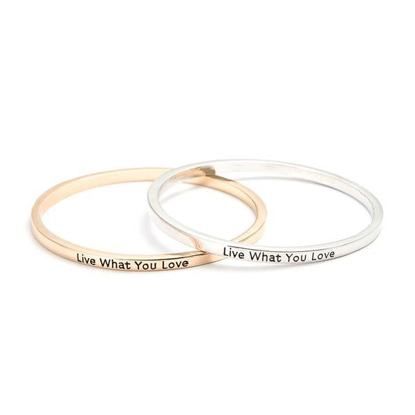 Live What You Love Bangle - BrandLove101