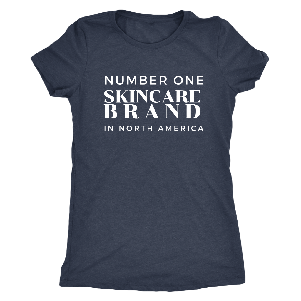 Number One Skincare Brand In NA Tri Blend Soft Womens Graphic Tee T Shirt - 10 Colors - BrandLove101