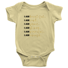 Load image into Gallery viewer, I Am All Things Beautiful Baby Bodysuit - 6 Colors - BrandLove101