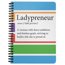 Load image into Gallery viewer, Ladypreneur Spiral Notebook - BrandLove101