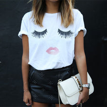 Load image into Gallery viewer, Lashes and Lips Unisex Ultra Cotton Tee - White/Gray - BrandLove101