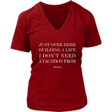 Load image into Gallery viewer, Building A Life Join Me Get Biz Partners Graphic T Shirt V Neck More Colors - BrandLove101