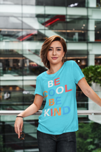 Load image into Gallery viewer, Be Cool Be Kind Women's The Boyfriend Graphic Tee - BrandLove101