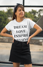 Load image into Gallery viewer, Dream Love Inspire Believe Graphic Unisex Heavy Cotton Tee - Other Colors - BrandLove101