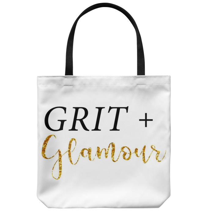 Grit and Glamour White Tote - BrandLove101