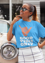 Load image into Gallery viewer, Good Vibes Only Unisex Heavy Cotton Tee - Carolina Blue - BrandLove101