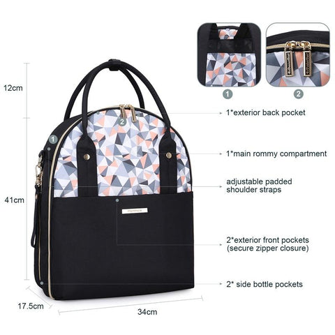 Baby Diaper Bag with Changing Pad Nappy Multifunctional