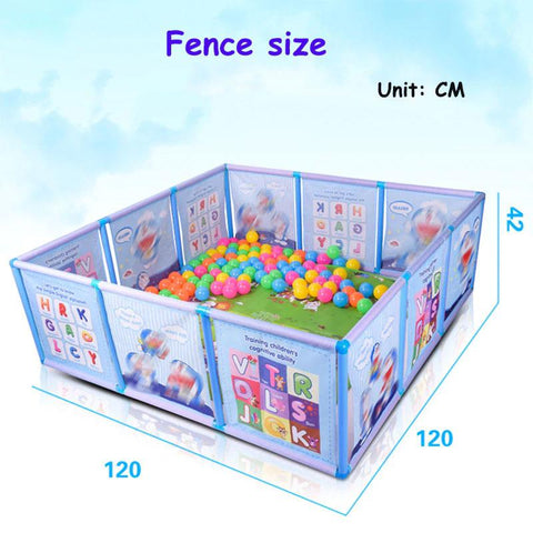 Baby Playpen Fence Safety Plastic Pool Game Crawling