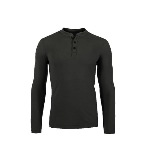Men's Shirt 100% Merino Wool Jersey Base Layer Long Sleeve Midweight Warm Thermal Outdoor TAD Style