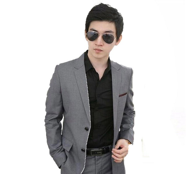 Men's Jacket Pant and Tie Suit Set Formal Slim Fit for Wedding Business
