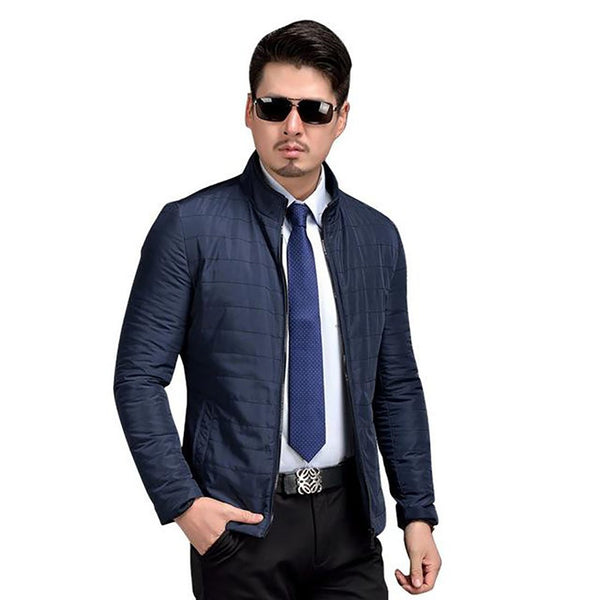 Men's Casual Jacket Cotton-padded Plus Size for Spring Autumn