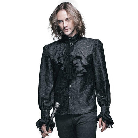 Men's Shirt Pattrn Long Sleeve Casual Gothic Shining for Winter