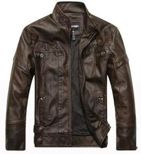 Men's Leather Jacket Motorcycle