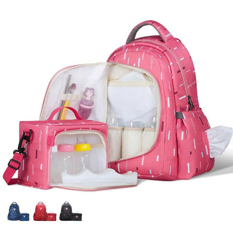 Maternity Diaper Bag High Capacity 2 in 1 Waterproof Nappy Organizer Small Inside